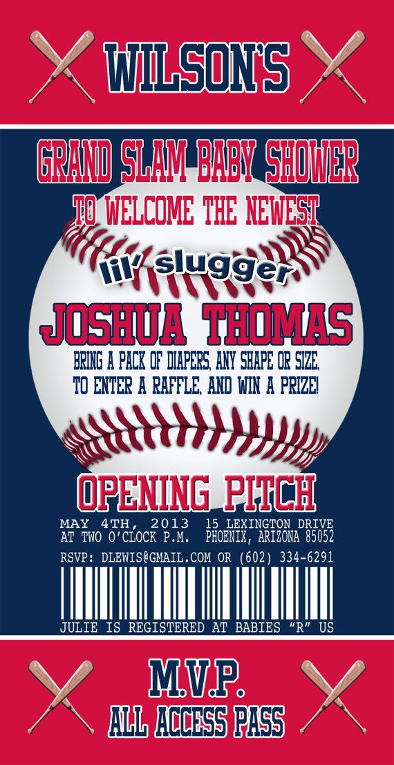 Minnesota Twins Inspired Baseball Baby Shower Invitation Baseball ...
