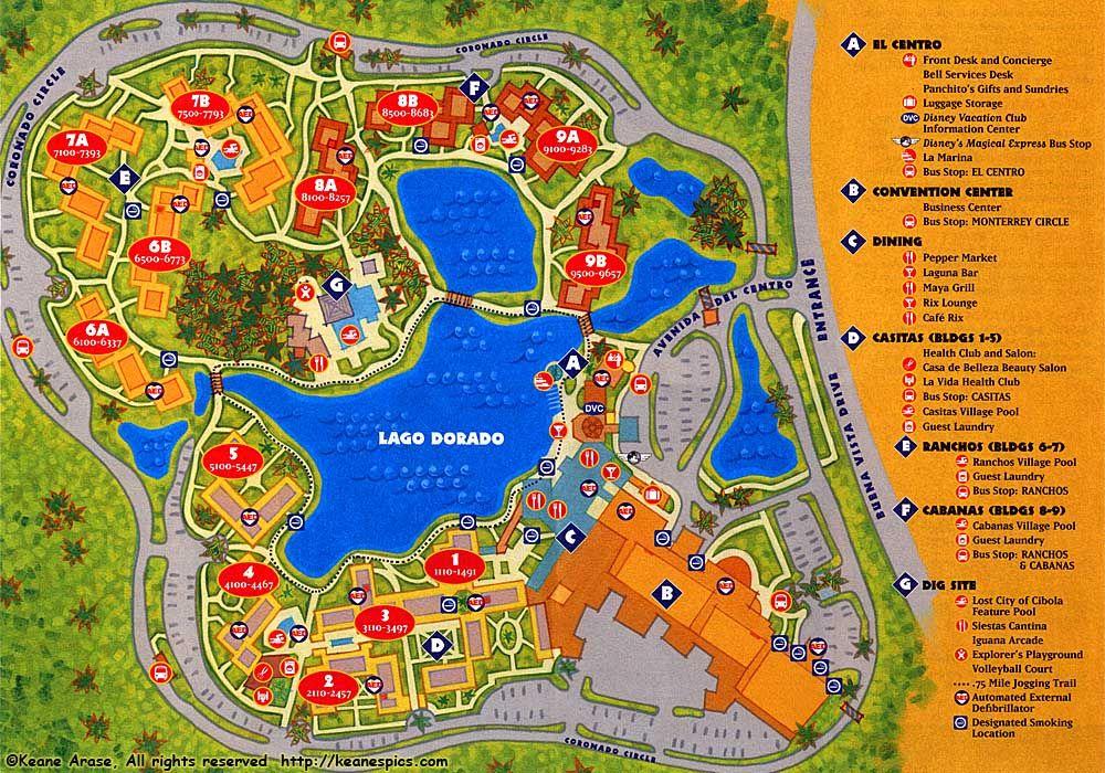 Coronado Springs Resort Map