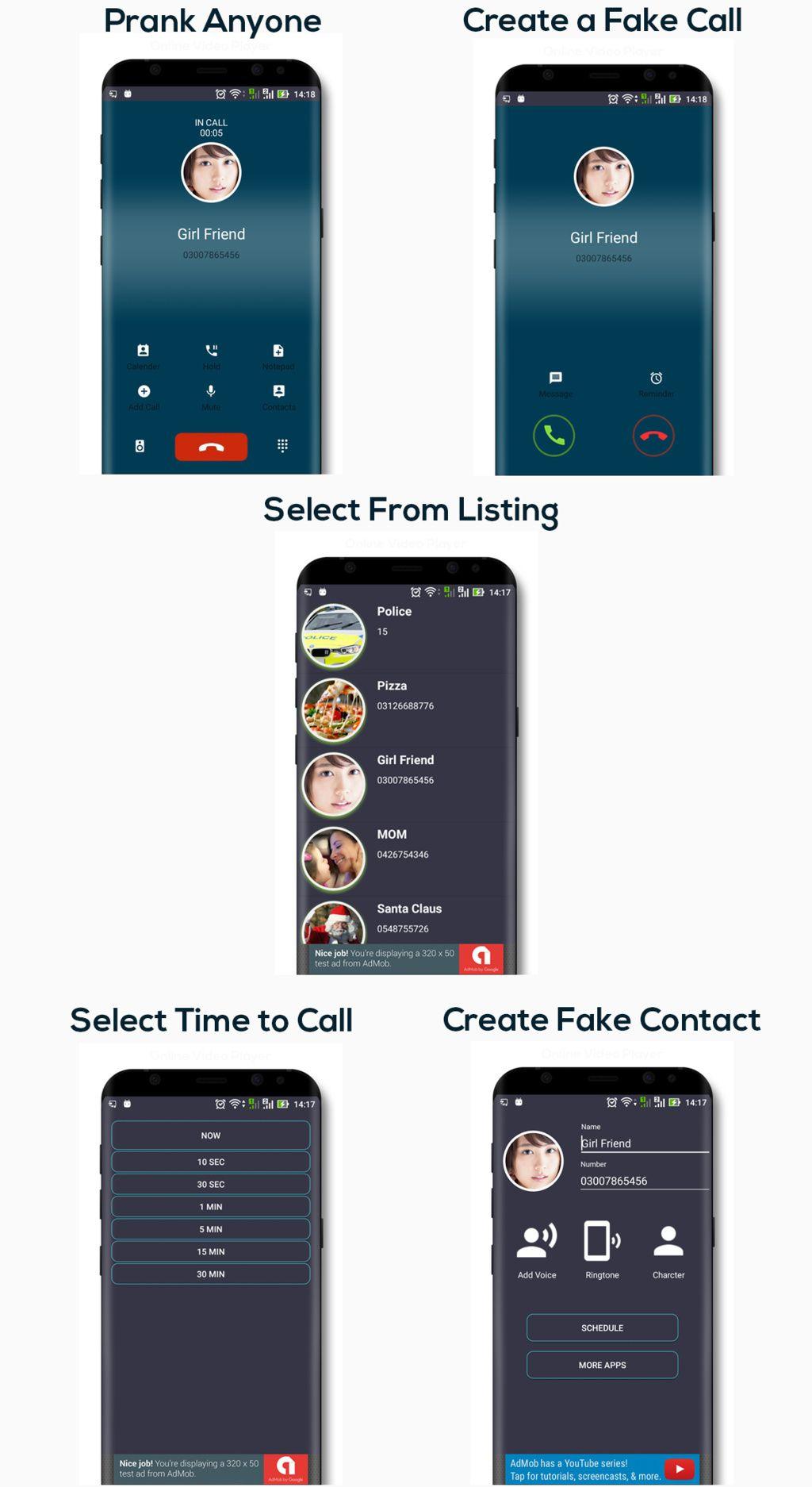Fake Call Latest Oreo Code Nutrition tracker app