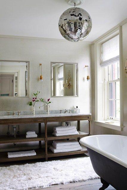 Esfera do disco, tapete de alpaca, Hilary Batstone - idéias do projeto do banheiro