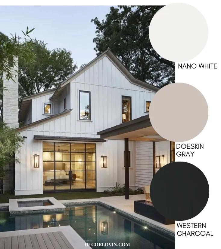 Modern Farmhouse Style Exterior Paint Colors