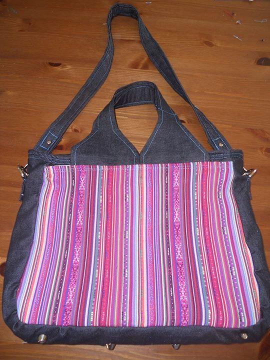 Un sac porte-documents Foxtrot cousu par Emilie - Patron de couture Sacôtin.