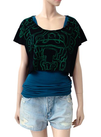 """Olmec God"" Crop Top at Stunning Lure- Meso, on sale now!"