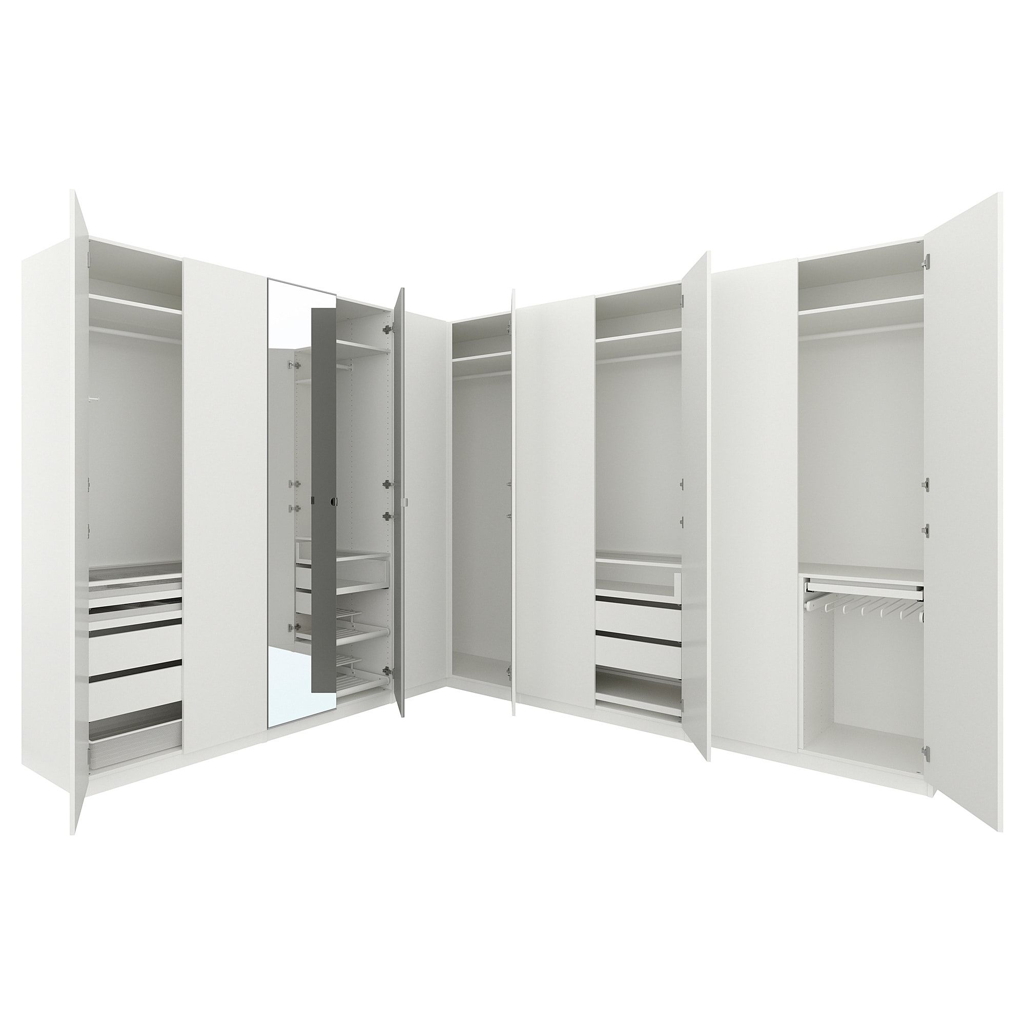 PAX Corner wardrobe white, Forsand Vikedal 122/122x93 1