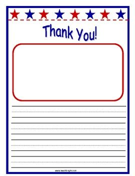 veterans day thank you letters