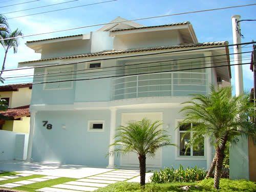 Casas pintadas de branco pesquisa google fachadas - Fachadas de casas pintadas ...