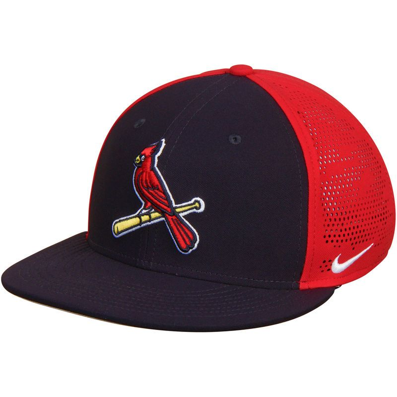 3b02c08c5c0ab St. Louis Cardinals Nike True Vapor Swoosh Performance Flex Hat - Black Red
