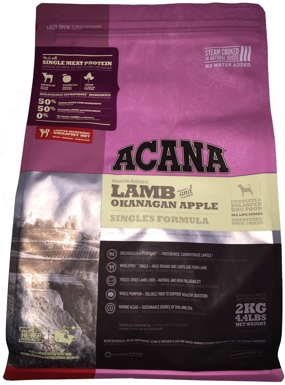 Acana Lamb And Okanagan Apple Dry Dog Food 4 4lb Startling