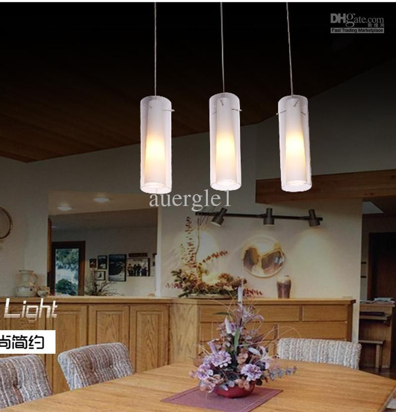 Dining Room Pendant Light Modern Brief Glass Single-head