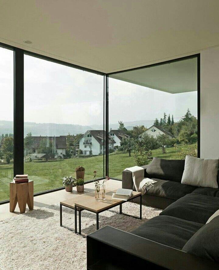 Glasfront Wohnzimmer