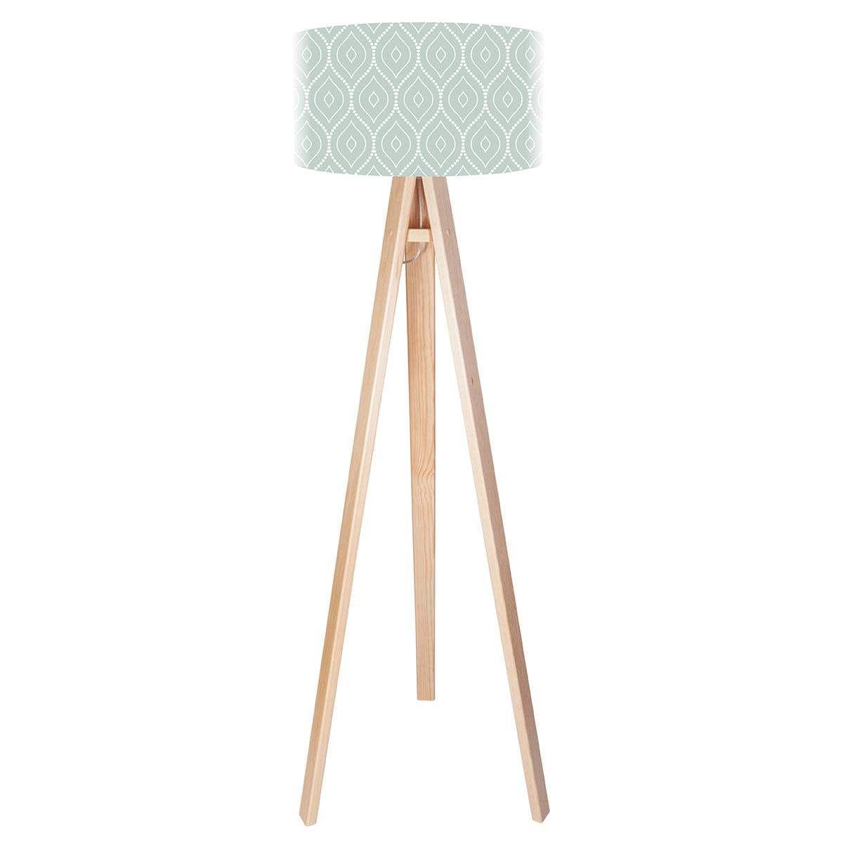 Dreibeinige Stehleuchte Rena Mit Bedrucktem Schirm Led Stehlampe