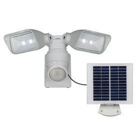 Shop Utilitech Pro White Solar Powered Led Motion-Activated Flood Light  Timer Included at
