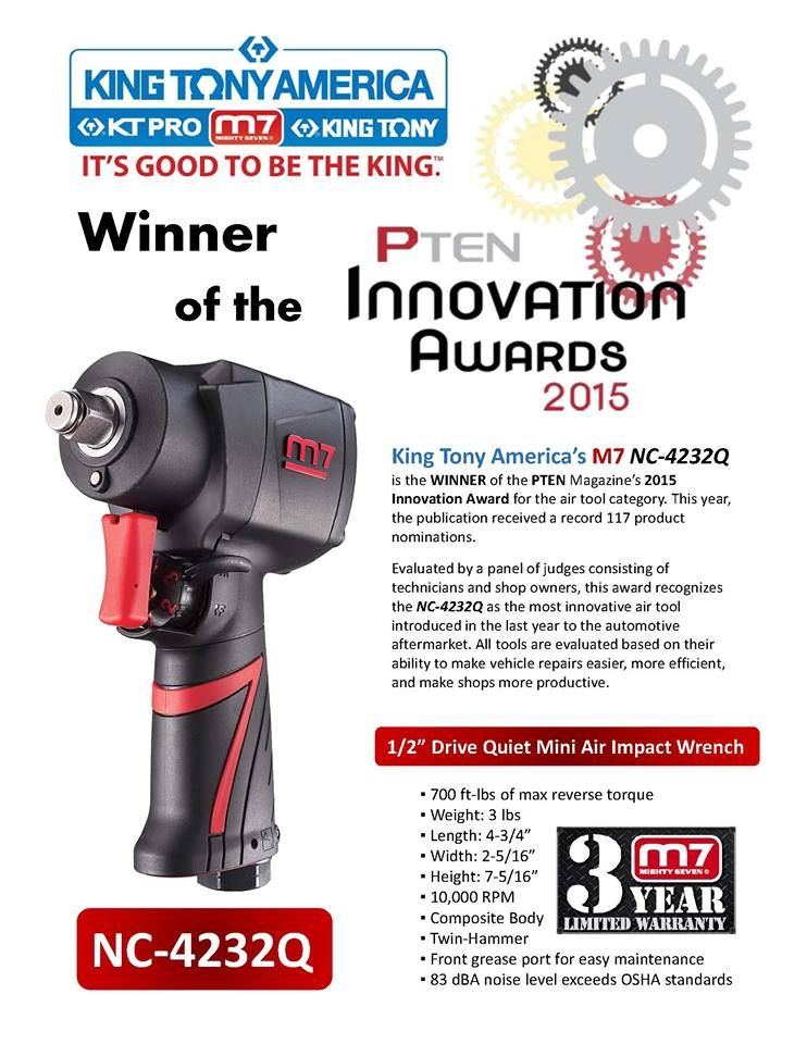 Kingtonyamerica Mightyseven Airtools Pten Impactwrench Awardwinner Innovation Automotive Industrial Impact Wrench Air Tools Seventh