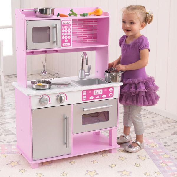 KidKraft Pink Toddler Kitchen Set | Toddler kitchen, Toddler ...