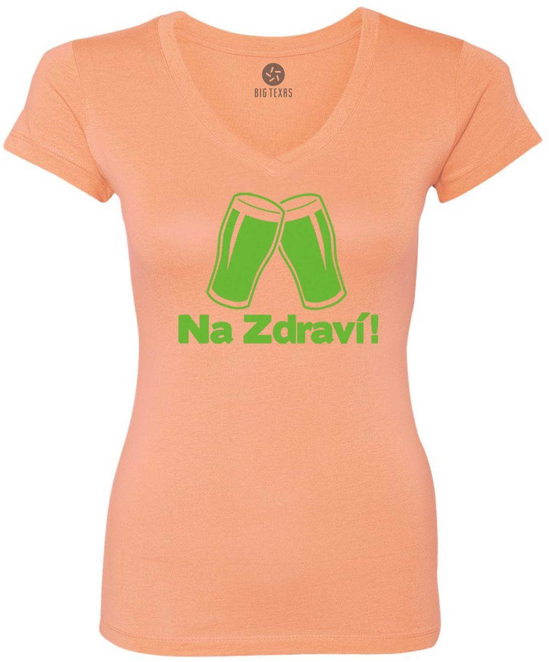 Czech Cheers (Green) Women's Short-Sleeve V-Neck T-Shirt