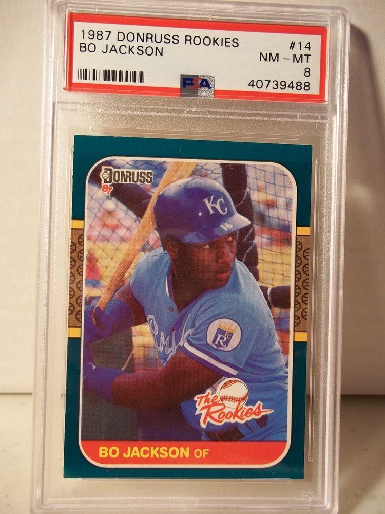 1987 donruss rookies bo jackson rc psa nmmt 8 baseball