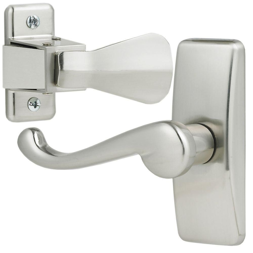 Ideal Security Satin Silver Storm Door Lever Handle Set Pinterest