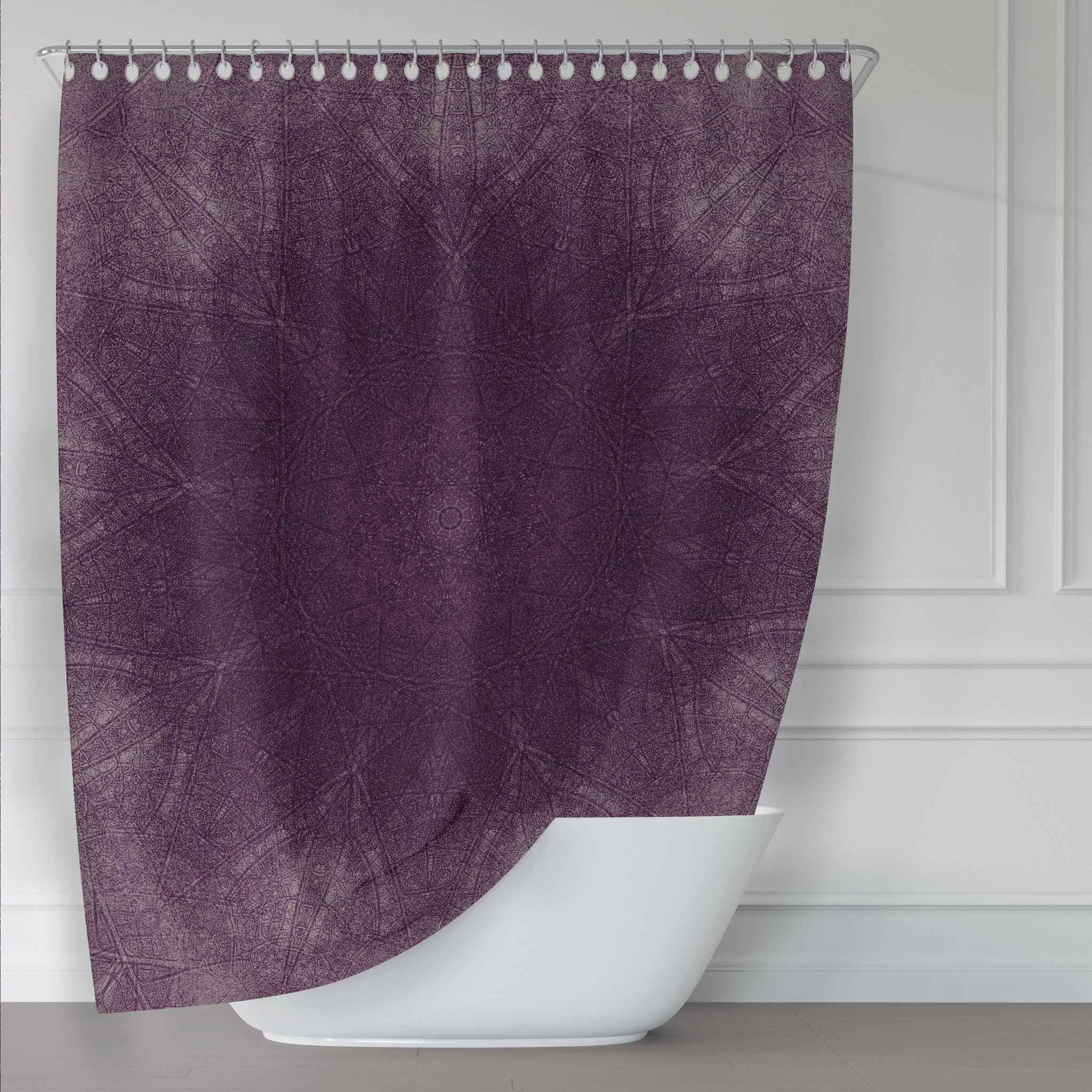 Tahari Fabric Cotton Blend Shower Curtain Printemps Watercolor