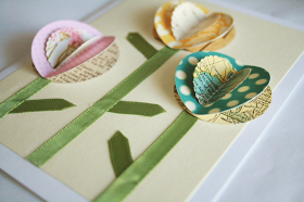 The Creative Place: DIY Tuesday :: 3D Spring Flowers Card