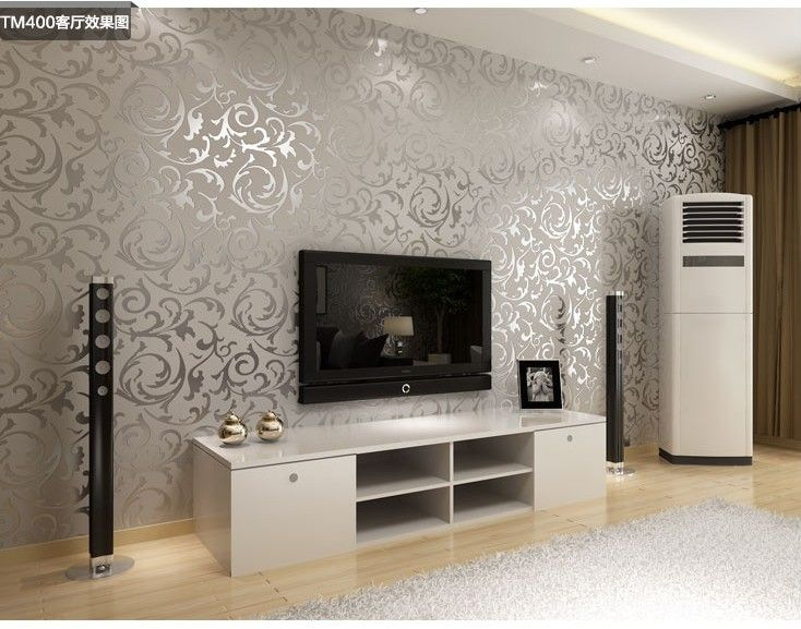 Online Shop Fashion European Style PVC Wallpaper Wall Paper Rolls Tv Suitable