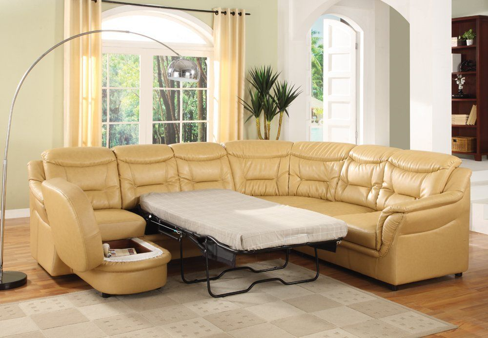 Shopping Online: Curved Leather Sectional Sofa