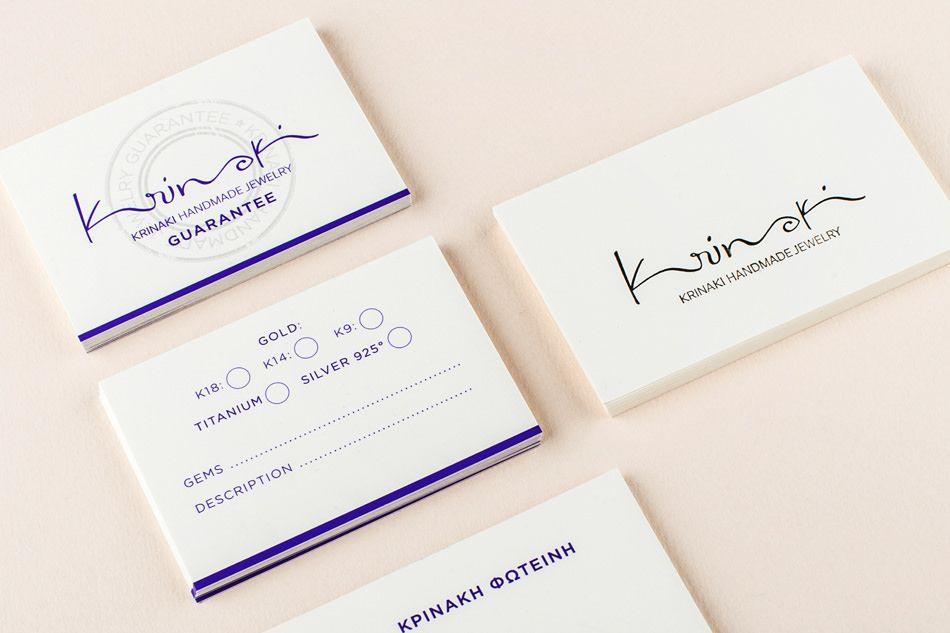 Kommigraphics - Krinaki Jewelry krinaki branding business cards ...