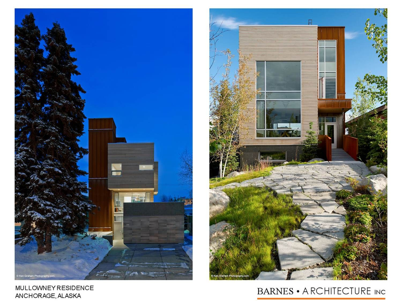 Jeffrey Barnes Aia Barnes Architecture Inc Anchorage Ak Mullowney Residence Anchorage Ak