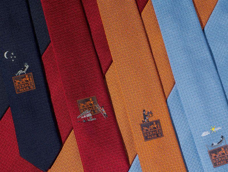TIE BREAKER Heavy silk ties.    www.hermes.com