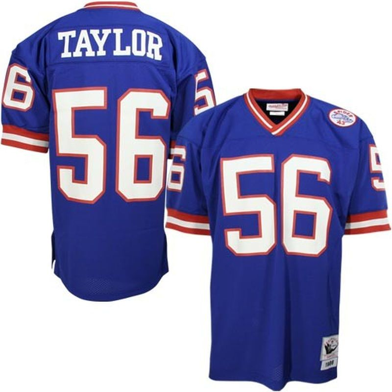 Lawrence Taylor New York Giants Mitchell   Ness Authentic Throwback Jersey  - Royal Blue e7693bce8