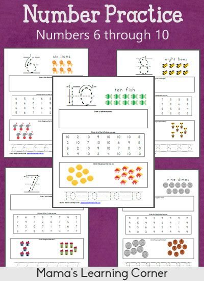 math worksheet : 1000 images about numbers 1 100 on pinterest  numbers  : Numbers 6 10 Worksheets For Kindergarten