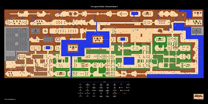 Site that sells NES game maps! | Die legende von zelda