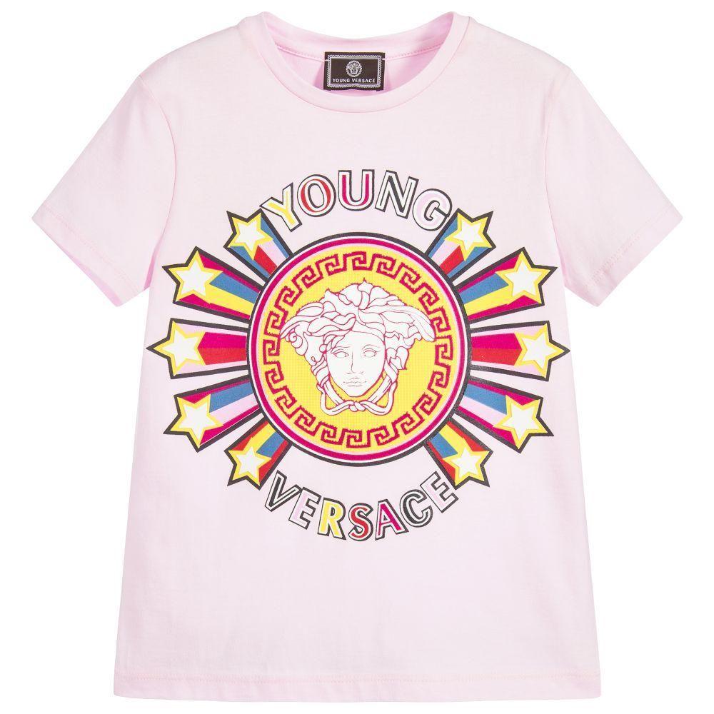 99378b29 Versace Girls Pink Medusa Logo T-shirt | T-shirt | Versace kids ...