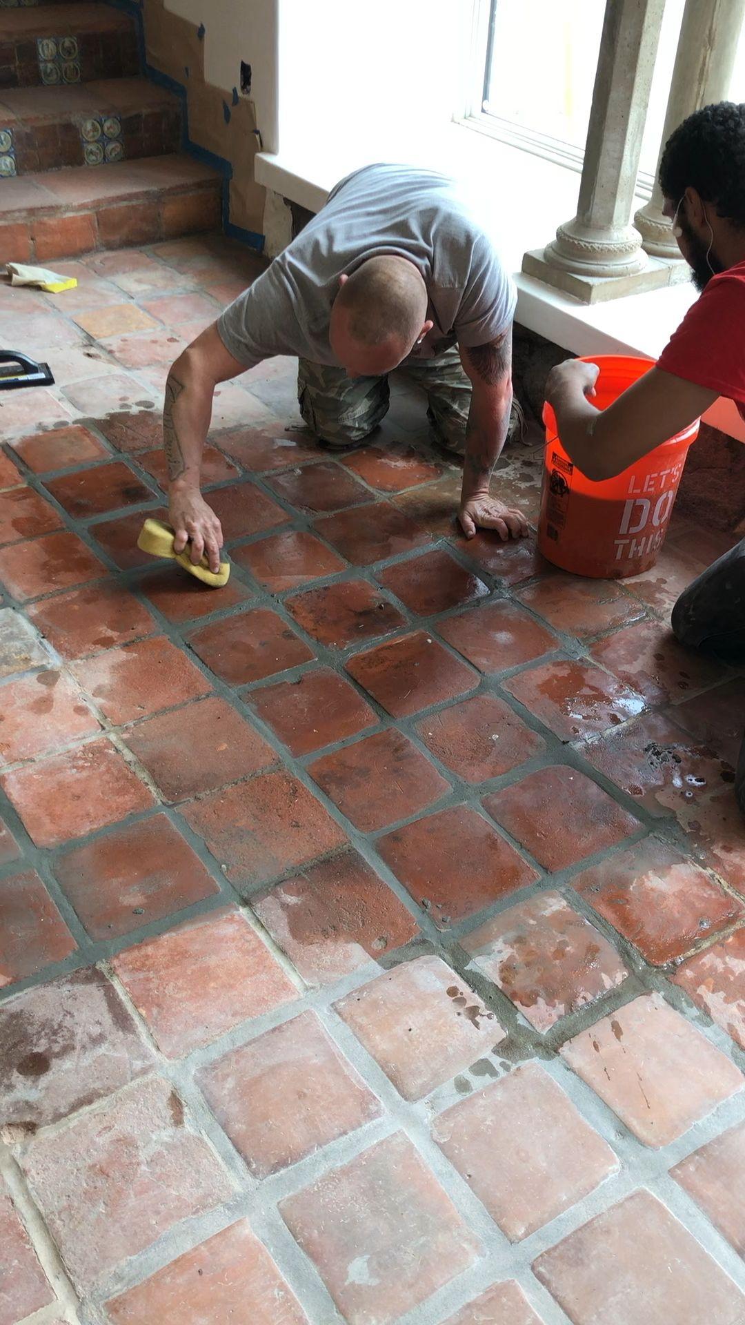Restoring 106 year old Terracotta Tile Floor