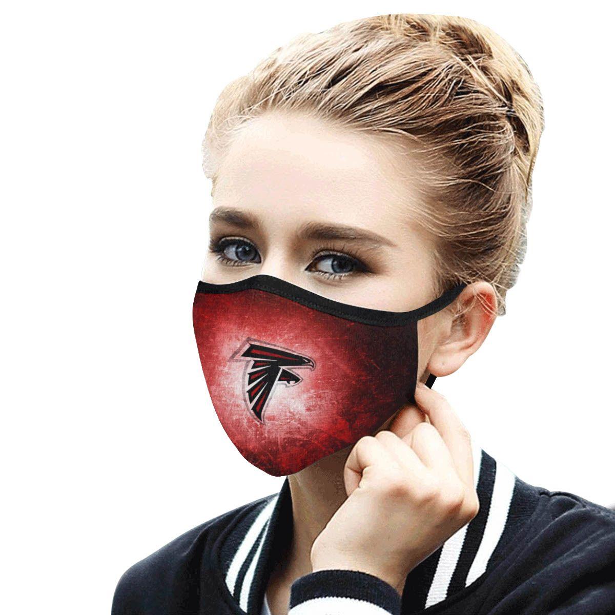 Atlanta Falcons Face Mask Antibacterial Fabric In 2020 Face Mask Atlanta Falcons Mask