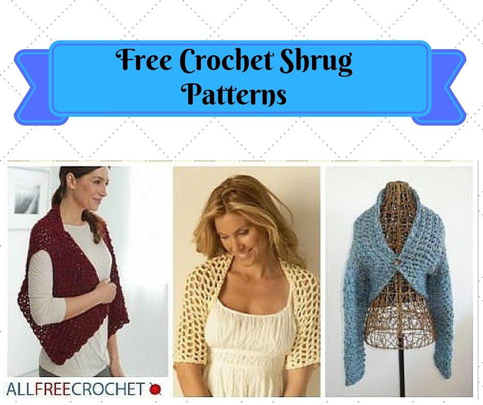 31 Free Crochet Shrug Patterns | Crochet shrug pattern, Free crochet ...