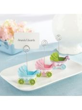 Baby Carriage Place Card Holder Baby Shower Favors 3ct - Party City