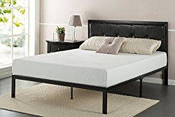 Zinus Faux Leather Classic Platform Bed Frame With Steel Support