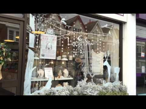 Christmas Window Painting Artist Victoria Bc Youtube New Year