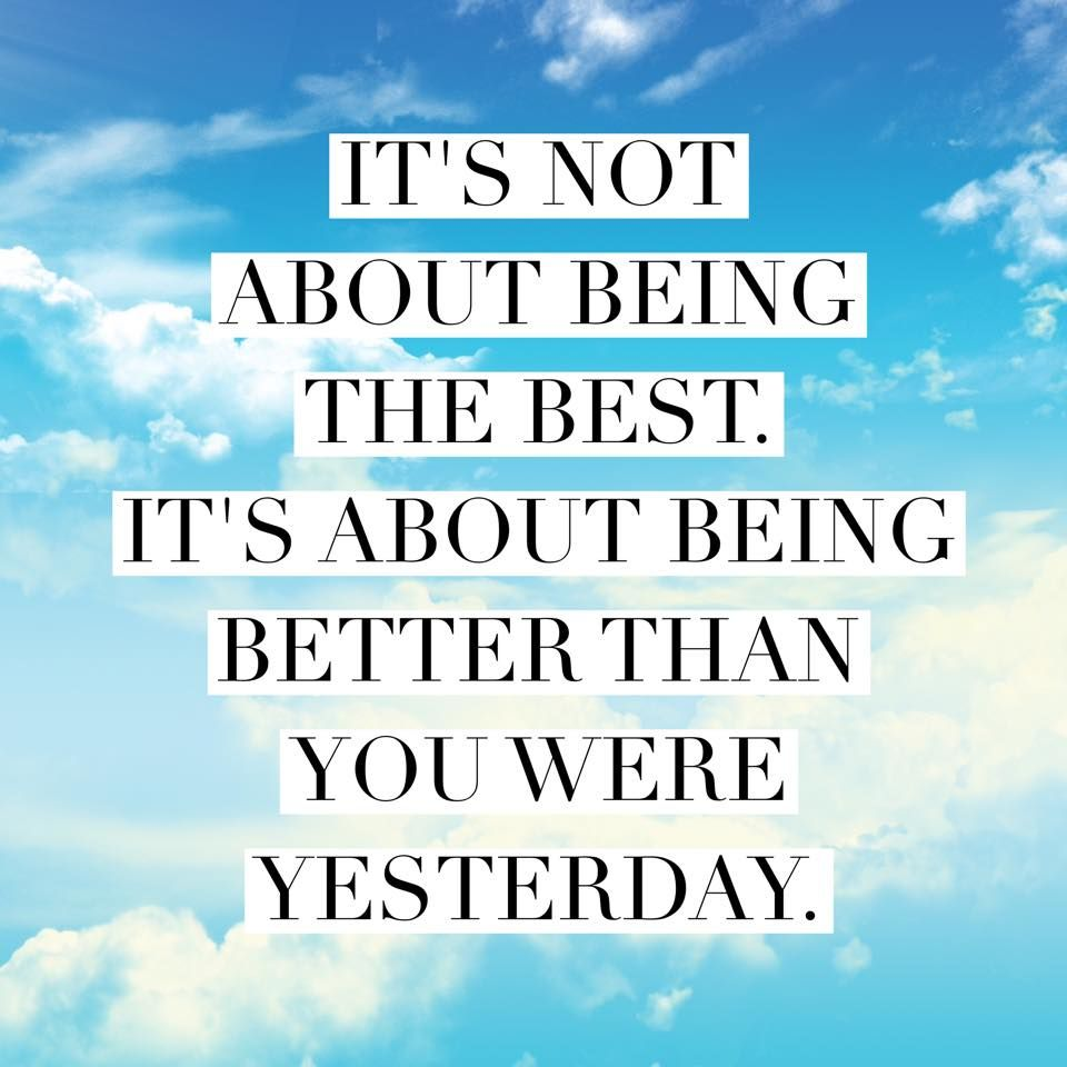 Inspirational Quotes About Positive: It's Not About Being The Best. It's About Being Better