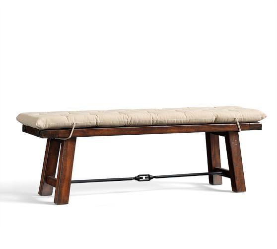Benchwright Bench Cushion Pottery Barn Dining Bench Cushion Tufted Seat Cushion Bench Cushions