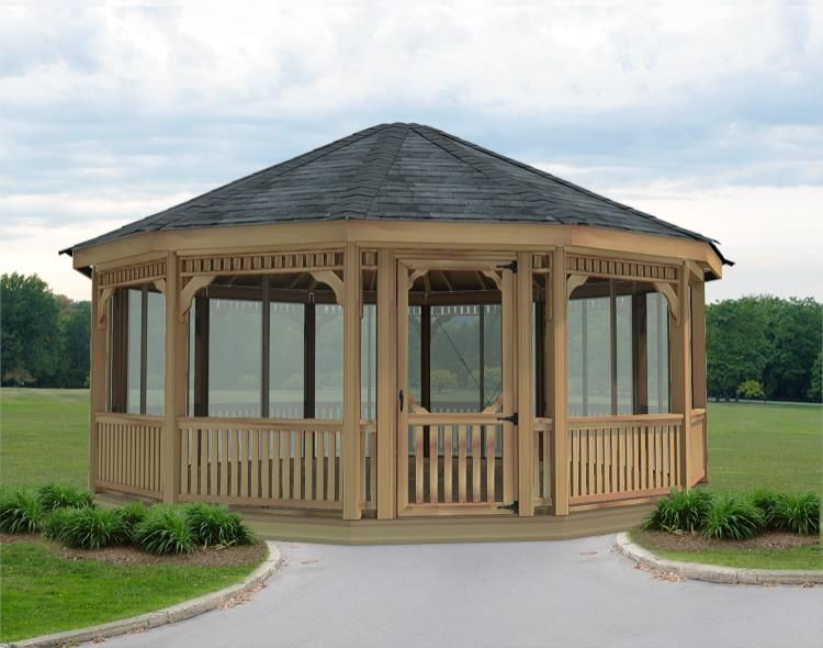 20 Cedar Dodecagon Gazebo With Screens And Windows Design Your Gazebo Delivered As A Kit And You Put It Together Gazebo Gazebo Plans Outdoor Gazebos