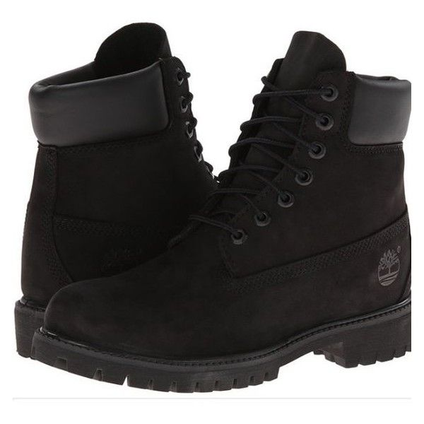 5c67abe8f77 Black timberland boots ❤ liked on Polyvore featuring shoes, boots ...