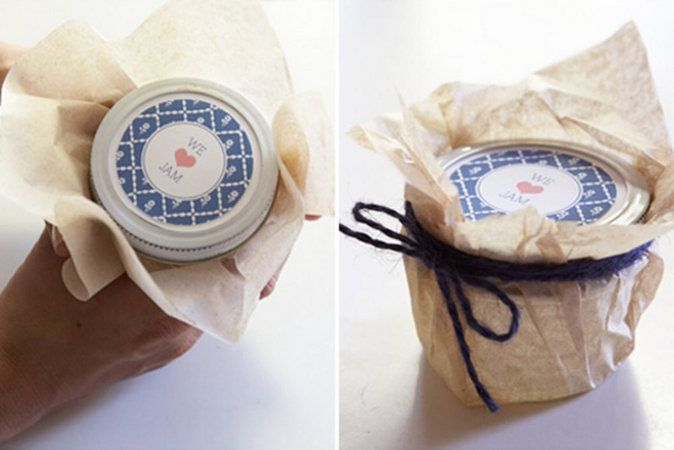 Mini Potjes Zelfgemaakte Jam Als Cadeautje Voor De Gasten