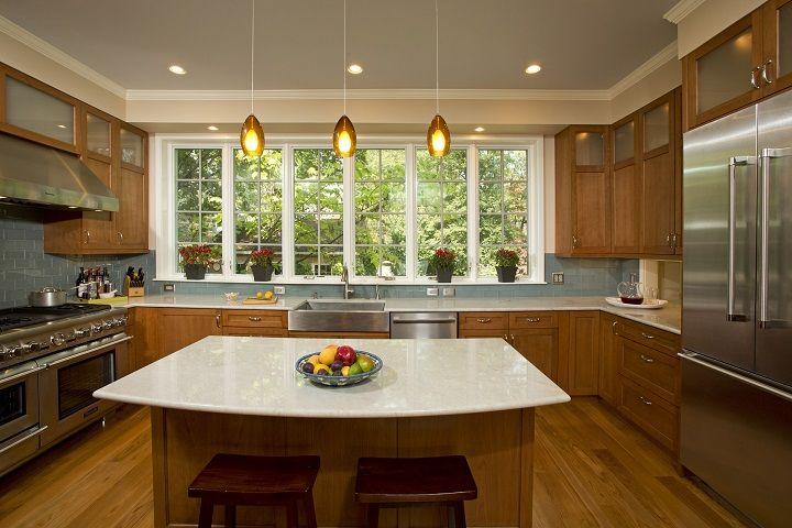 Best Kitchen Renovation Cherry Cabinets Taj Mahal Quartzite 400 x 300