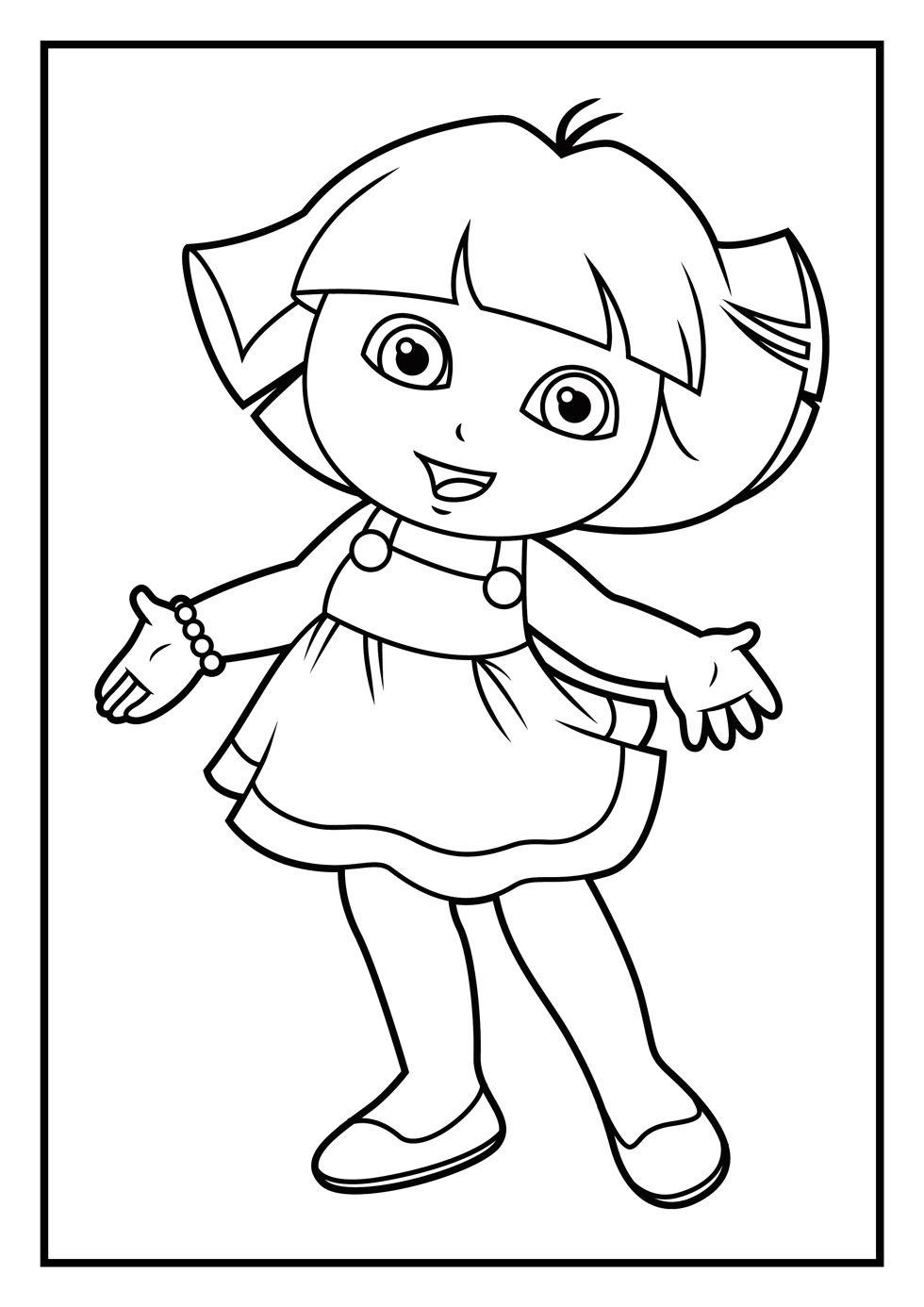 Dora Colouring Pictures Dora Coloring Cartoon Coloring Pages Coloring Pages