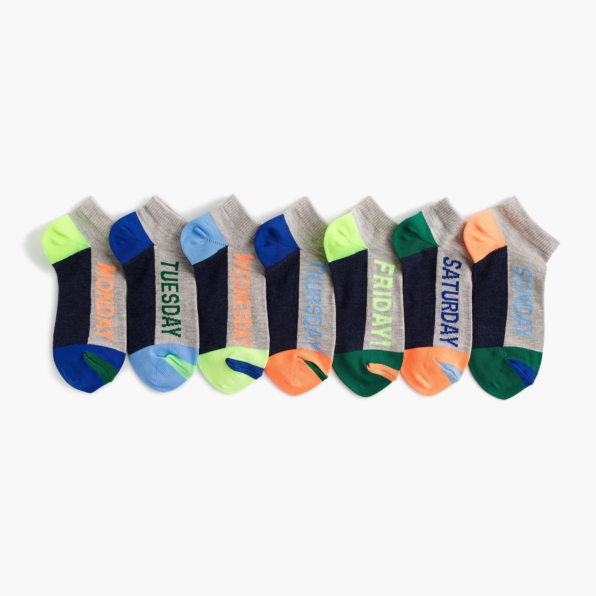 Days Of The Week Socks J Crew Boys Days Of The Week Socks Seven Pack With Images