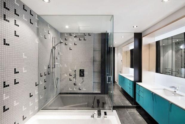 Badezimmer Einbauschrank ~ Badezimmer trend design waschbecken schrank türkisfarben