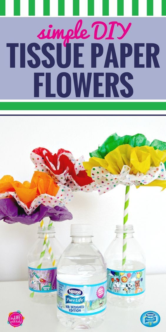 Simple diy paper flowers pinterest flower ideas tissue paper easy diy tissue paper flower ideas and tutorial brighten anyones day with these delightful paper flowers great for kids to create or adults for a fun mightylinksfo