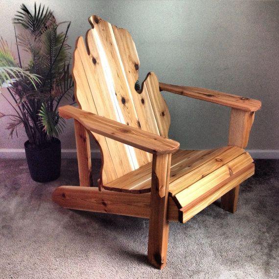 handmade wooden chairs chair design garden michigan adirondack wood furniture rustic patio cedar state