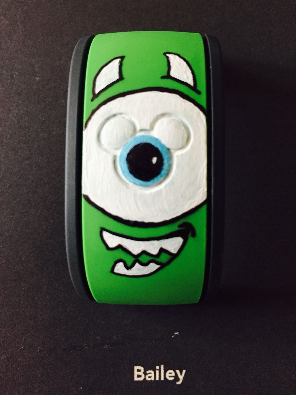 Mike Wizowski Monsters Inc. Magic Band DIY | Gettin\' Crafty ...